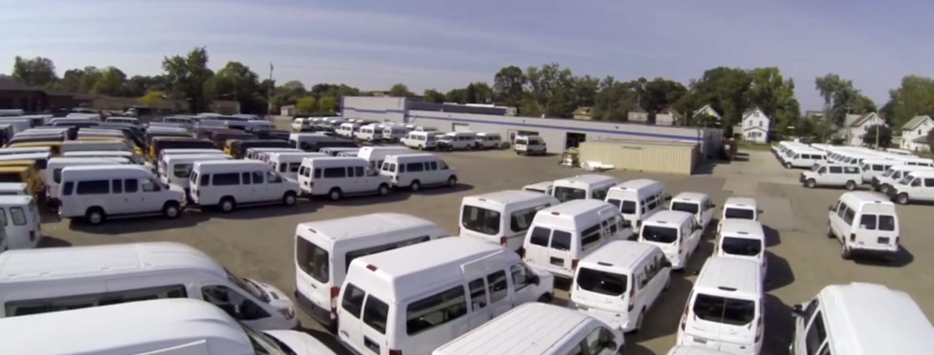 Ariel view of MobilityWorks Commercial lot