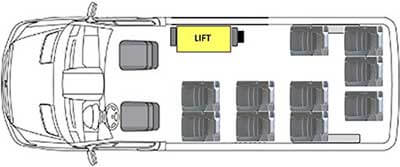 Ford Transit 350 LWB Layouts